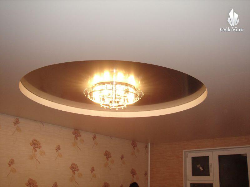 Самые простые натяжные потолки фото